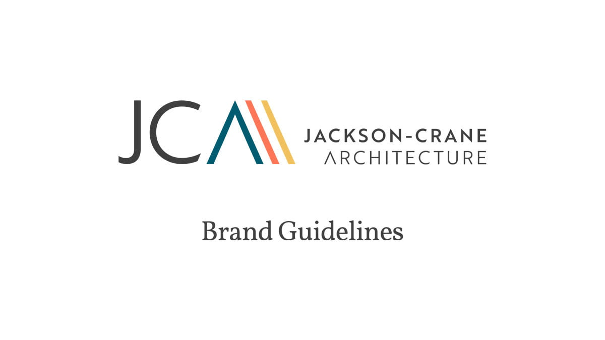 Jackson-Crane Architecture style guide Studio Seventeen